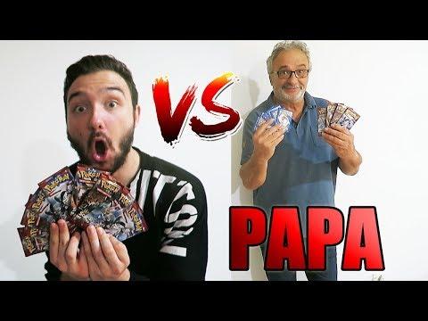 DUEL D'OUVERTURE DE BOOSTER POKEMON VS MON PAPA !