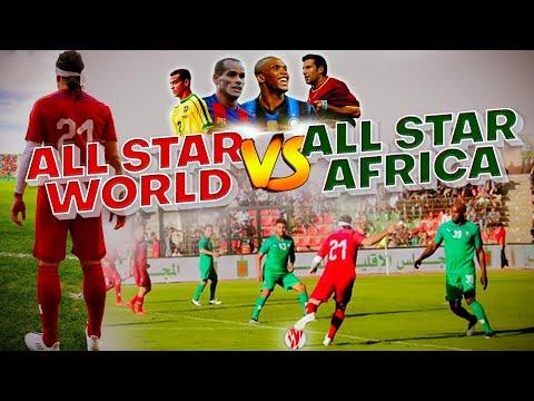 CRAZY FOOTBALL GAME – All Star World vs All Star Africa feat eto'o figo Rivaldo Cafu salgado