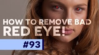 HOW TO REMOVE RED EYE - PHOTOSHOP CC