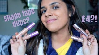 TARTE SHAPE TAPE CONCEALER DUPE?! | CONCEALER BATTLE | MAUMINA