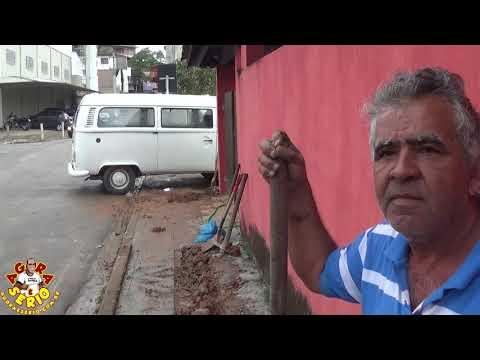 Narciso agradece o Prefeito Ayres Scorsatto e Paulinho Xavi pelo trampo feito em frente a sua casa