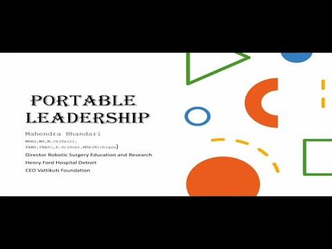 Portable Leadership KGMU Keynote