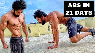 Get 6 PACK ABS In 21 DAYS   Home Abs Workout