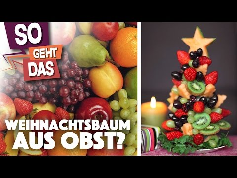 Funktioniert das, oder ist das Müll? - Weihnachtsbaum aus Obst machen