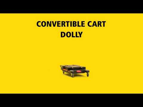 Product video for Flat Handle Heavy Duty 2 Shelf Utility Cart With Lipped Shelf Black