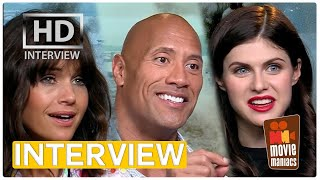 San Andreas | Dwayne Johnson, Alexandra Daddario & Carla Gugino Interview (2015)
