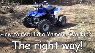 Yamaha warrior 350 and yamaha grizzly 660 river test and mud test how to rebuild a yamaha warrior 350 the right way publicscrutiny Choice Image