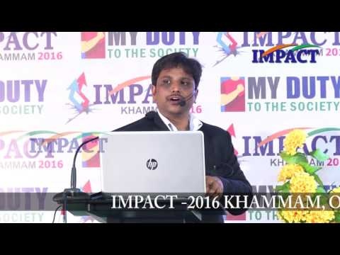 Rural Enterprenuer|Sai Satish|TELUGU IMPACT Khammam 2016