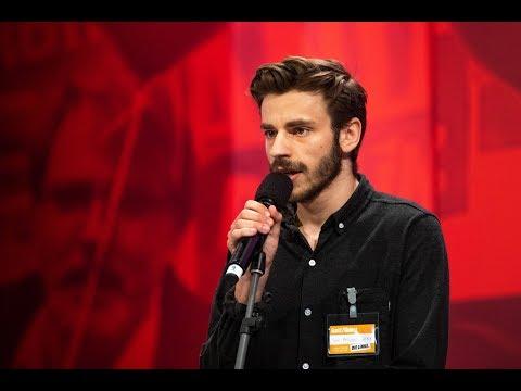 "Leipziger Parteitag: ""Mindesthohn"" – Poetry Slam von Jean-Phillip Kindler"