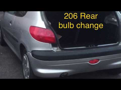 How to Change Peugeot 206 rear bulb