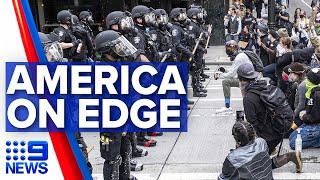 US braces for sixth night of unrest | 9 News Australia