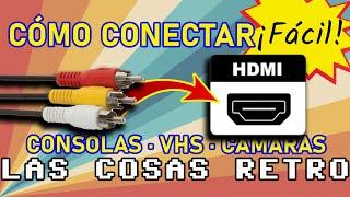 RCA a HDMI 🟡 Conectar CONSOLAS RETRO y VHS en HDMI ¡MUY FÁCIL! 📺 Smart TV