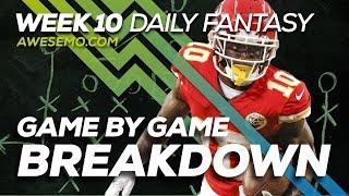 NFL DFS Strategy - Week 10 Top Targets - 2019 Fantasy Football