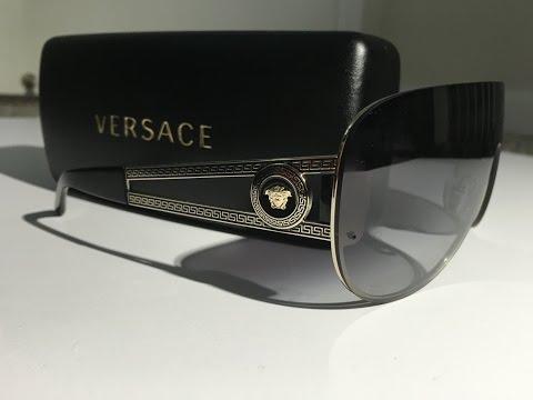 Men's Versace Shield Sunglasses Unboxing