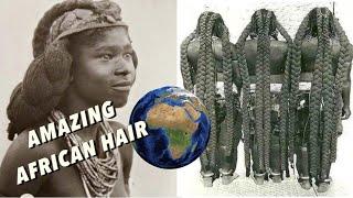 African FLOOR LENGTH LONG Natural Hair! Mbalantu Women (history Of Box Braids)