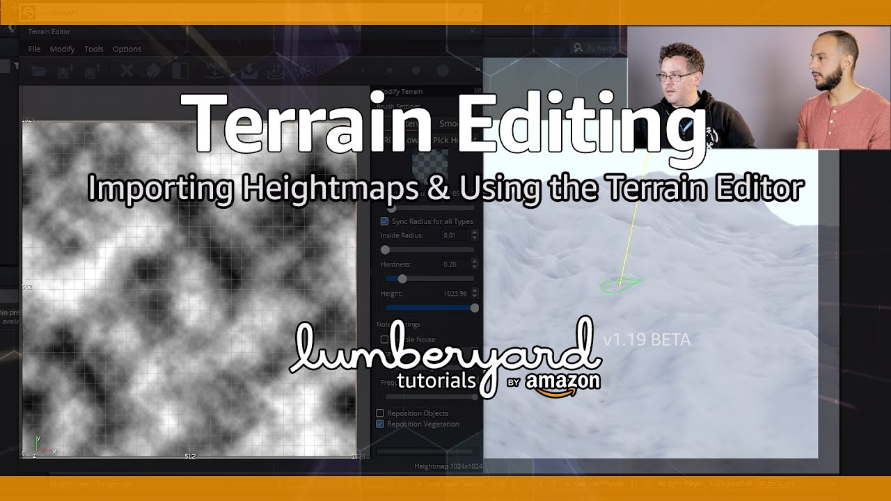Import a Heightmap & Use the Terrain Editor   Lumberyard Tutorial 2019.13