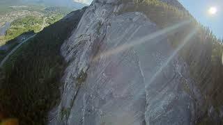 FPV #Sendit! Air surfing Stawamus Chief Grand wall with a 198g custom micro drone. 1ST!