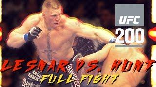 UFC 200: Brock Lesnar vs. Mark Hunt Knockout (Full Fight Highlights)