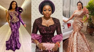 Beautiful African Lace Dresses 2020 : Stylish #Fashionable Party #Dresses For Ladies
