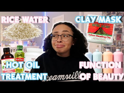 Testing POPULAR Curly Hair HACKS! | Aztec Indian Clay Mask,Function of Beauty & More | aliyah simone