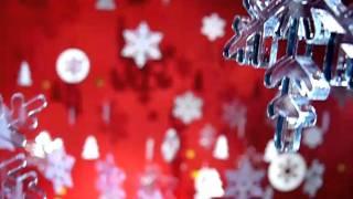 на работе - на телеканале СИТИ в честь нового года для заставки снимали снежинки.