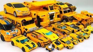 Yellow Color Transformers Carbot Tobot MiniForce MachineRoBo 23 Vehicle Transform Robot Car Toys