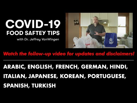 Doctor's advice on how to safely handle groceries and takeaway food during the COVID-19 pandemic