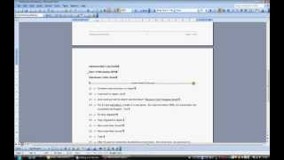 How to add Line Numbers to Documents and Transcripts in MS Word 2003