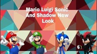 SMA: Mario Luigi Sonic & Shadow New Look Video (HD)