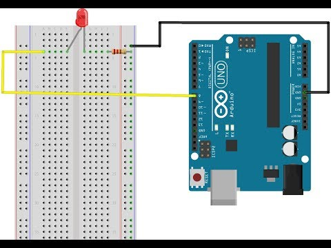 How to make the first project of arduino led on/off