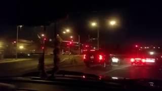 Car in fire Las Vegas during EDC 2016