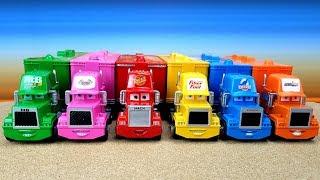 Сюрпризы MINI CARS3 Машинки и Транспортировщики Мак / Mack  Развивающее видео для детей Про машинки