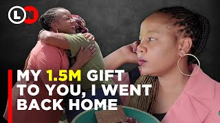 My 1.5 Million gift to you courtesy of Optiven Group, finally went back home   Lynn Ngugi TV