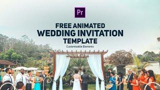 Free Wedding Invitation Template | Premiere Pro