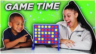 Gambar cover DJ and Mommy Play Connect 4 Board Games for Family Game Night!