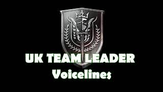 "Call of Duty: Modern Warfare - ""UK Team Leader"" Voicelines"