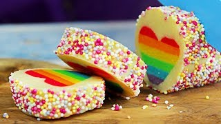 Surprise Cookies | Rainbow Heart Cookies | DIY Cakes, Cupcakes & More Desserts | Hoopla Recipes