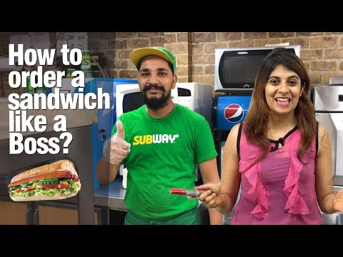 How to order a SUBWAY Sandwich