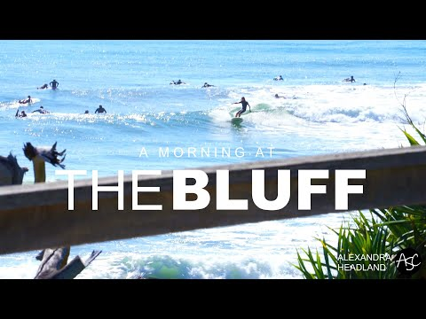 HD video of exciting surf at the Bluff