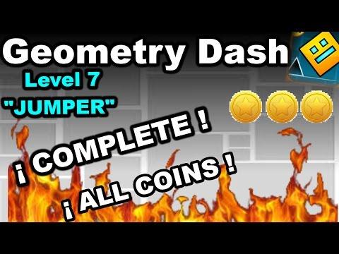 Geometry Dash - Level 7:Jumper (All Coins) - CJrock - Video