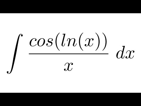 Integral of cos(ln(x))/x (substitution)