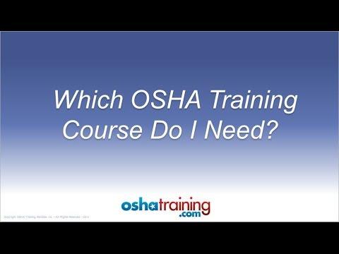 Free OSHA Training Tutorial - Which OSHA Training Course Do I ...