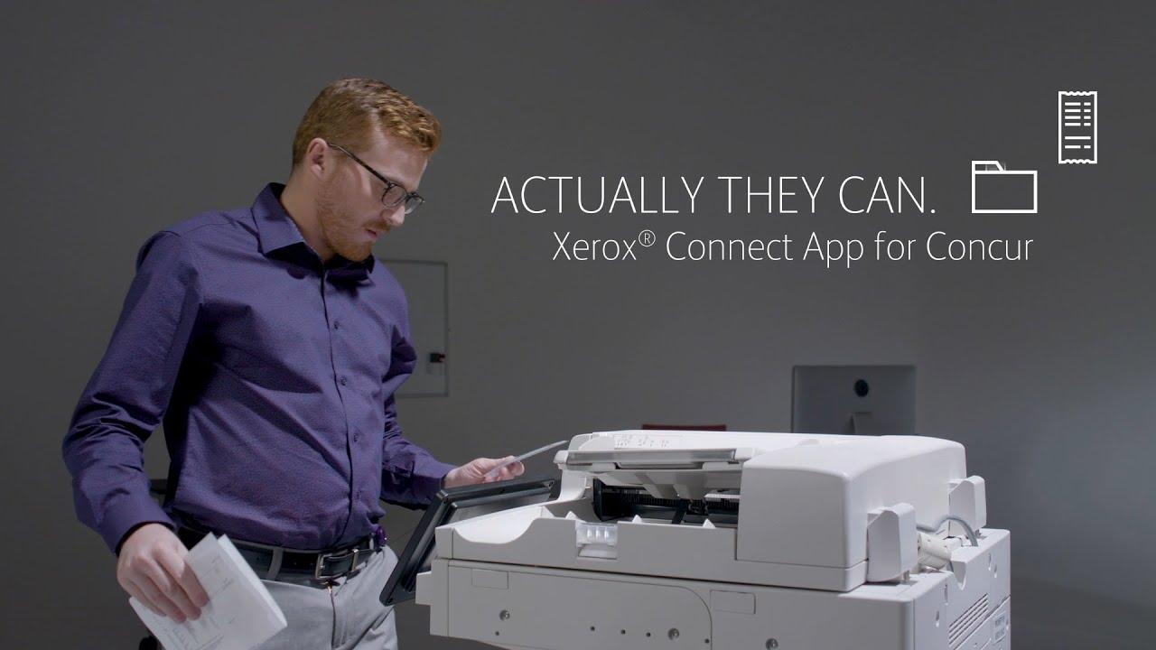 Appli Xerox® Connect pour Concur YouTube Vidéo