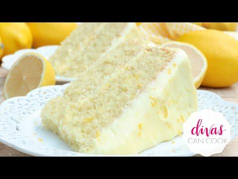 Lemon VELVET Cake w/ Lemon Cream Cheese Frosting