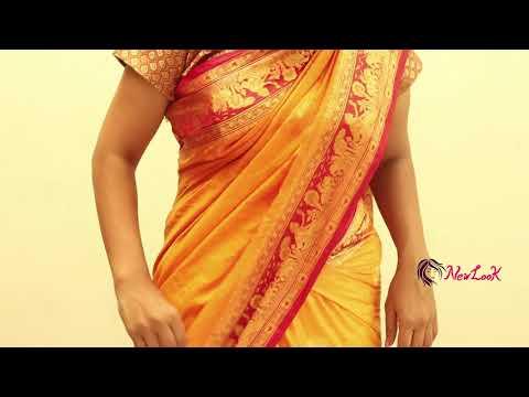 How to pleat saree pallu in Telugu\wearing   saree pleating tricks in telugu ~ New Look
