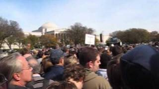 Crowd at DC Sanity Rally