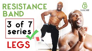 HOW TO DO LEG WORKOUT WITH RESISTANCE BANDS | NO EQUIPMENT | FITBEAST