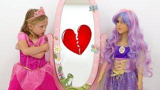 Настя собирается на вечеринку для принцесс