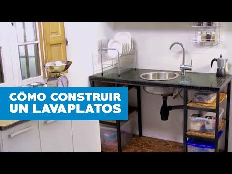 ¿Cómo construir un lavaplatos?
