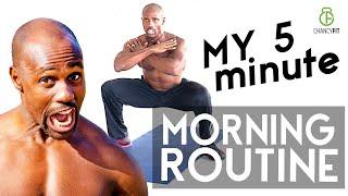 My 5 MINUTE FAT BURNING MORNING ROUTINE (Follow Along) | NO GYM NO EQUIPMEN